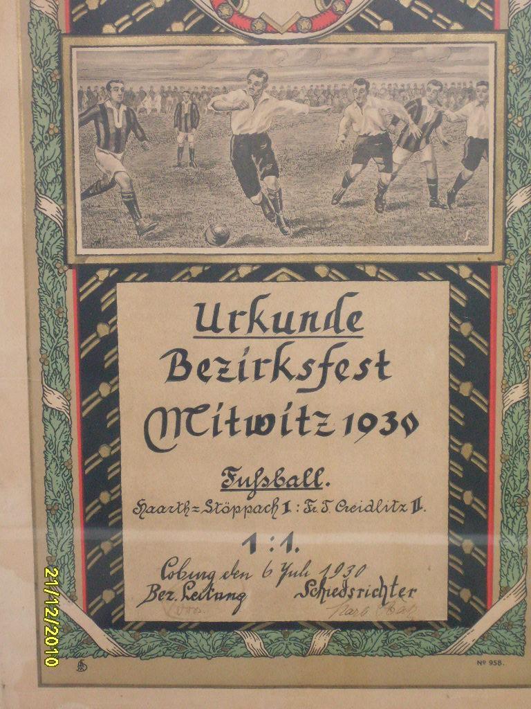 Urkunde 1930
